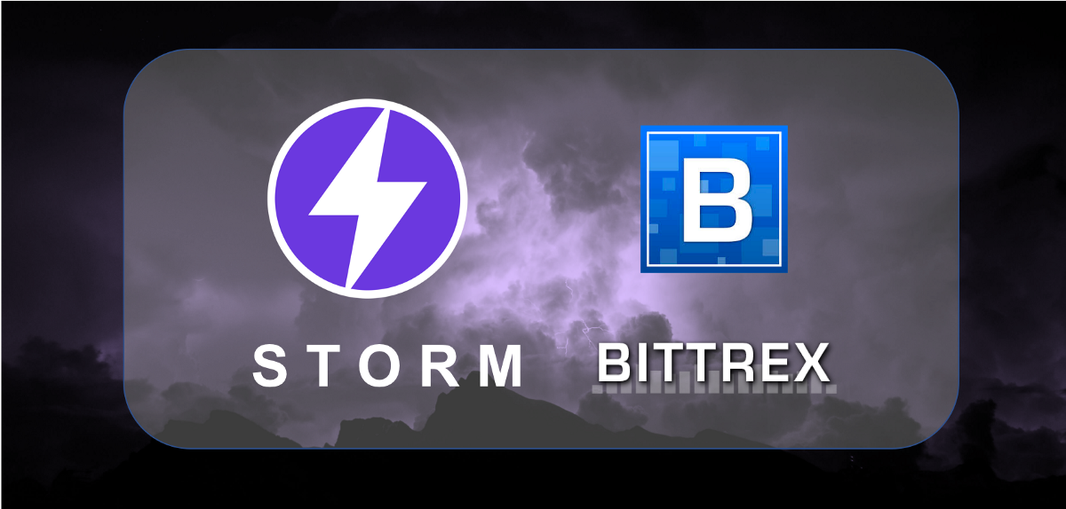Bittrex has listed Storm