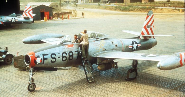 At the Dawn of the Jet Age, the F-84 Thunderjet was a Rumbling Presence