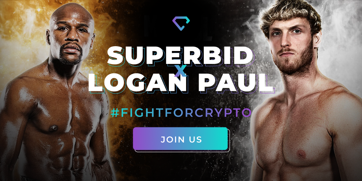 Join the #fightforcrypto movement and win a ticket to the Paul vs Mayweather fight!