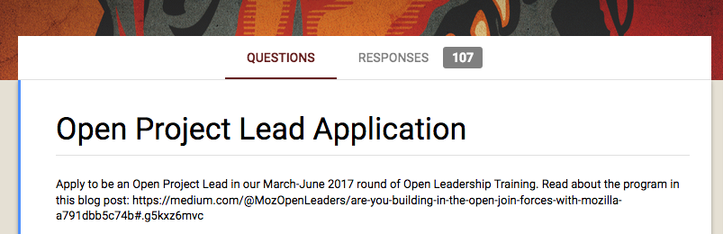 Our Selection Process - Mozilla Open Leaders - Medium