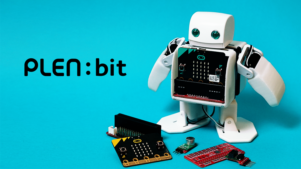 PLEN:bit Is a Cute Little Bipedal Robot Built on the Educational BBC