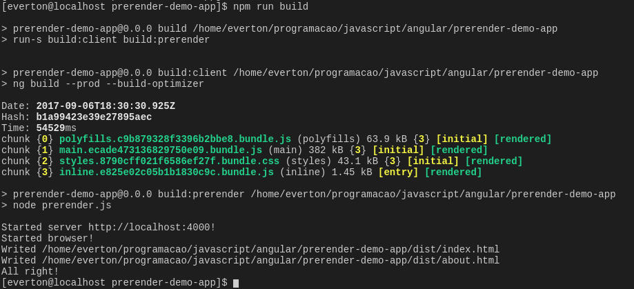 Prerender an Angular application with @angular/cli and puppeteer
