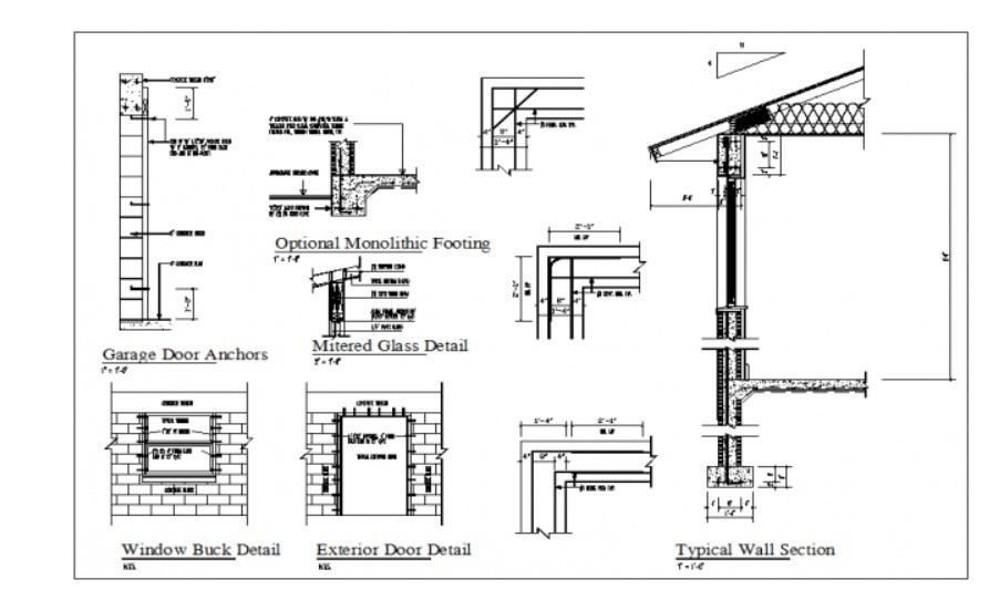Structural member section view detail dwg file - Cadbull