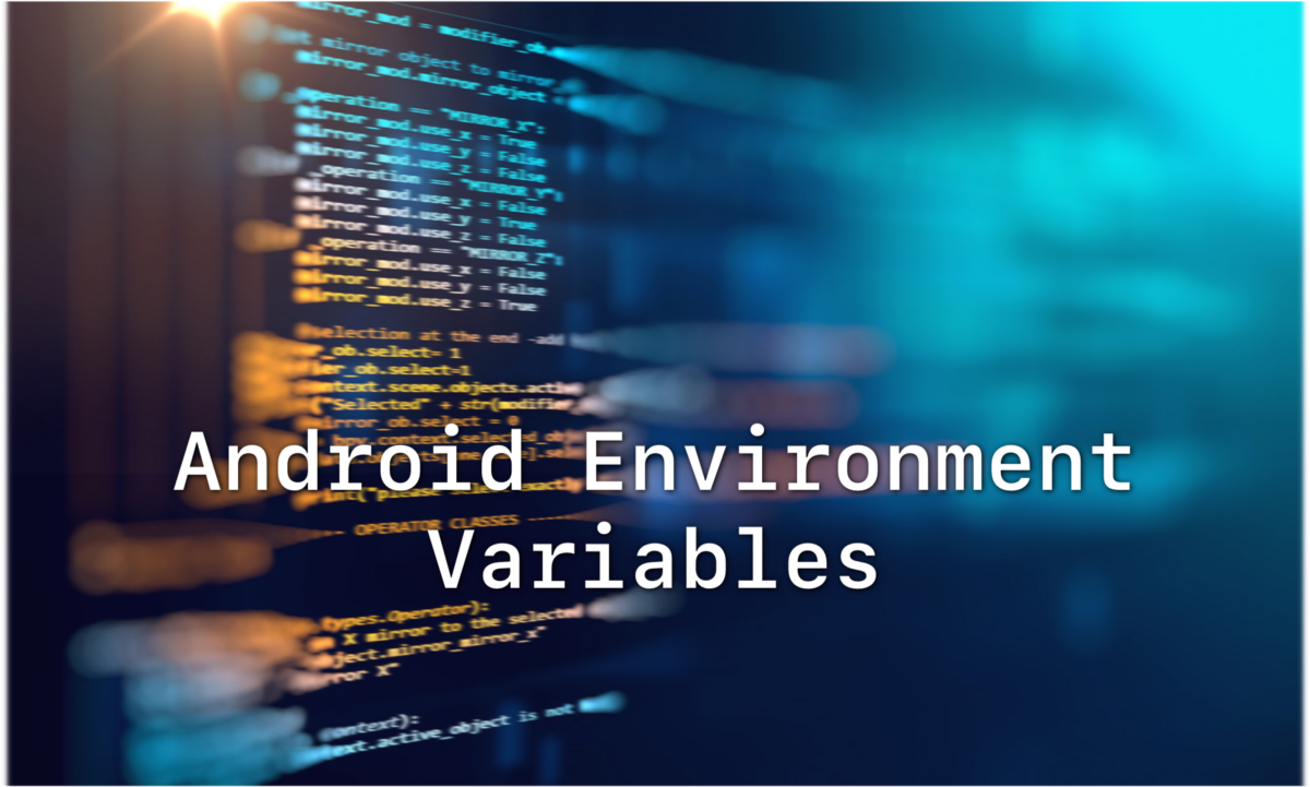 My take on Environment Variables in Android project