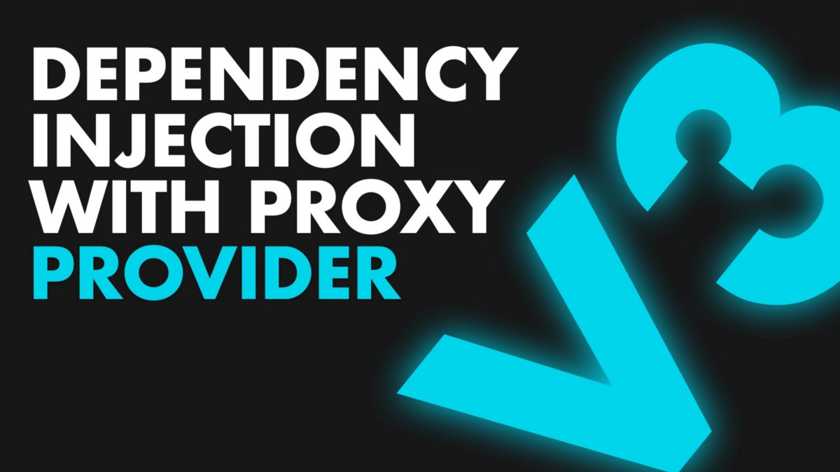 Dependency injection in Flutter using ProxyProvider