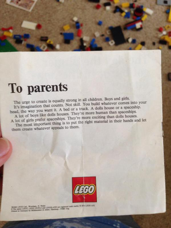 LEGO's letter to parents, and how not to tell a fake when you don't see one