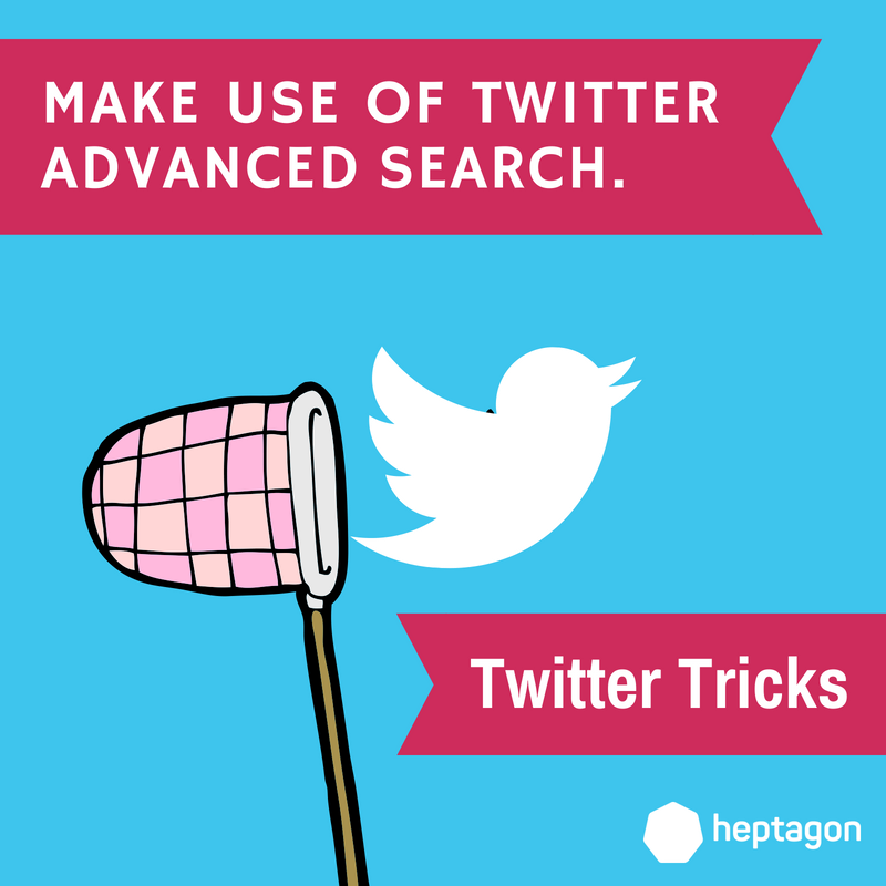 Twitter Tricks] Make use of Twitter Advanced Search