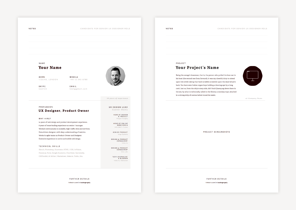 Creating Resume In Sketch It Is Not Easy To Create A Nice By