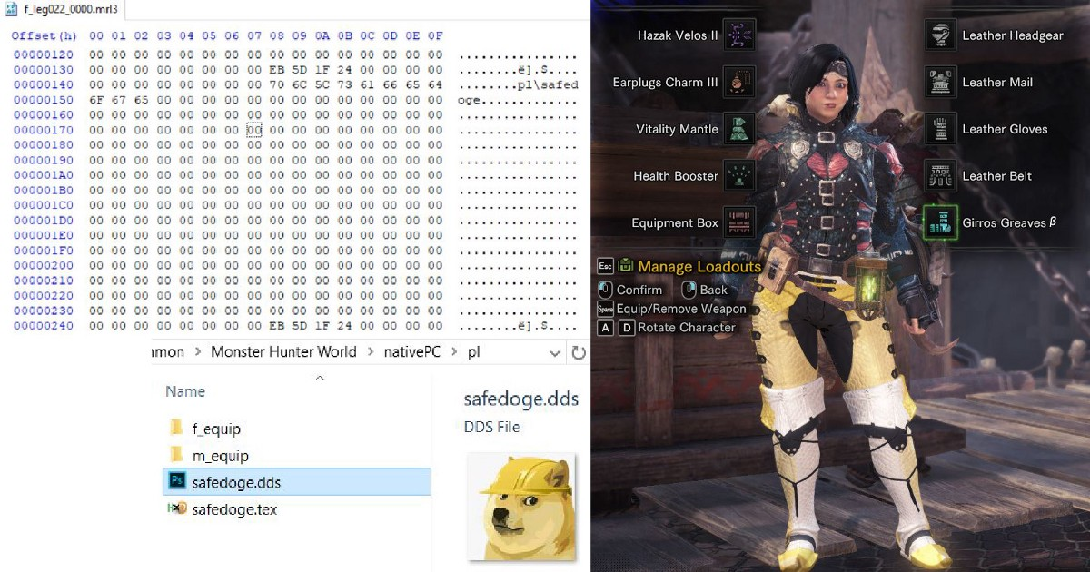 Monster Hunter World: Tentative Texture Editing - Bagoum