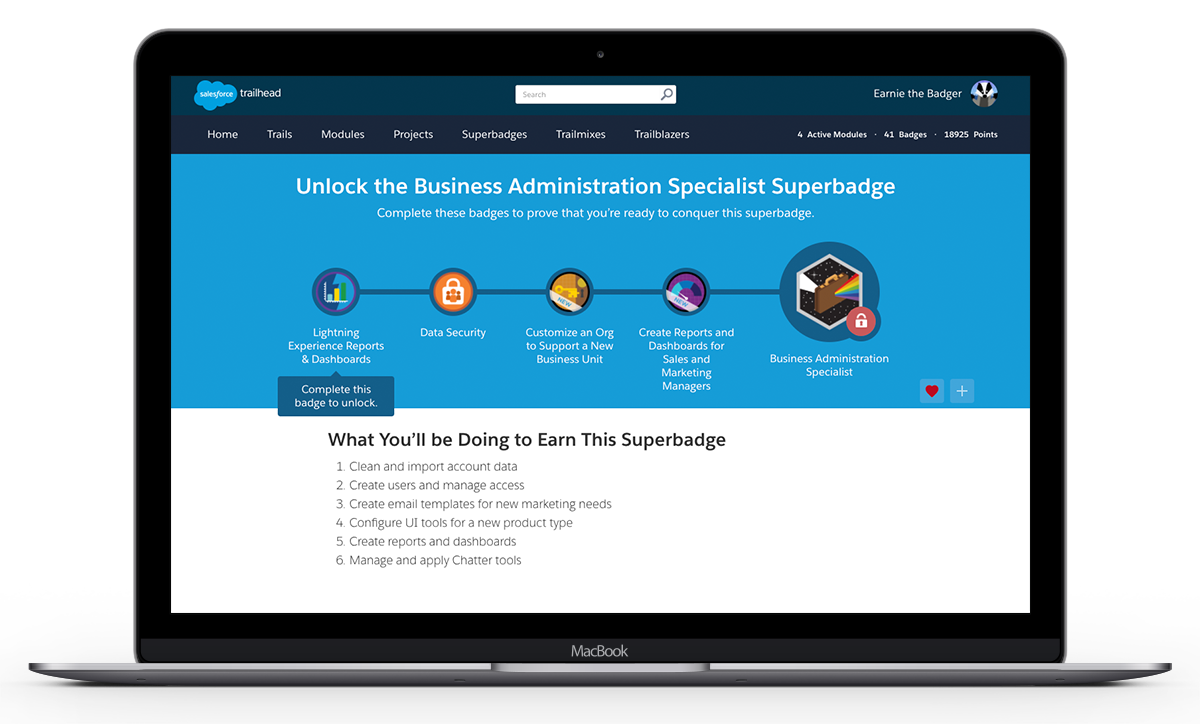 Why the Business Administration Specialist is THE Superbadge for You!