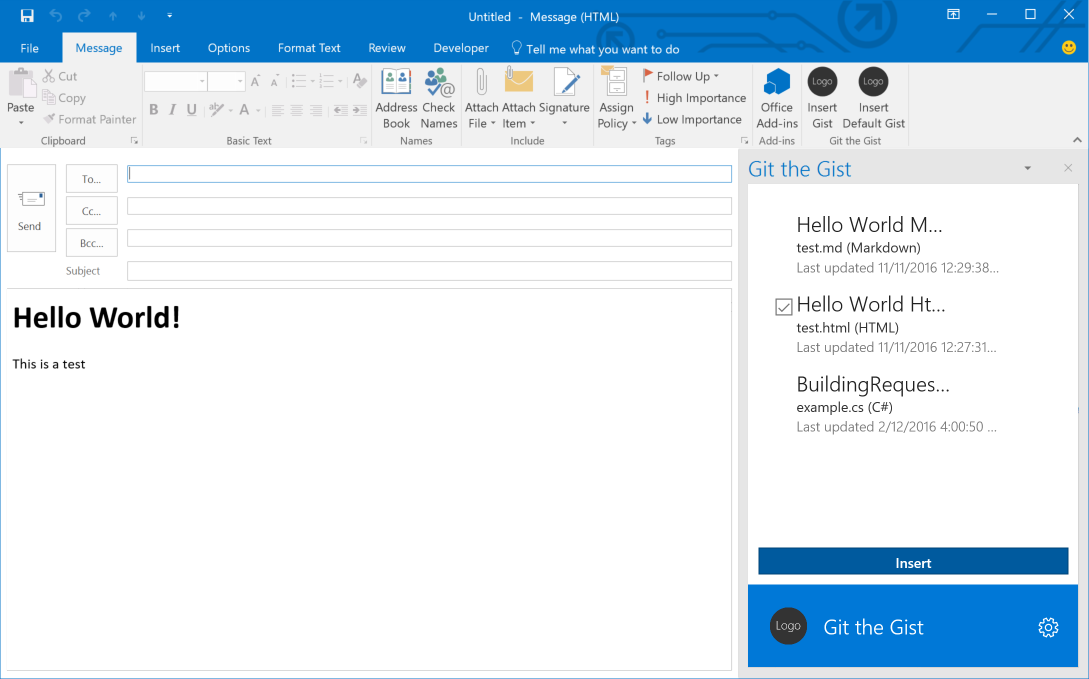 How to Create an Outlook Add-in - Amitha Mahesh - Medium