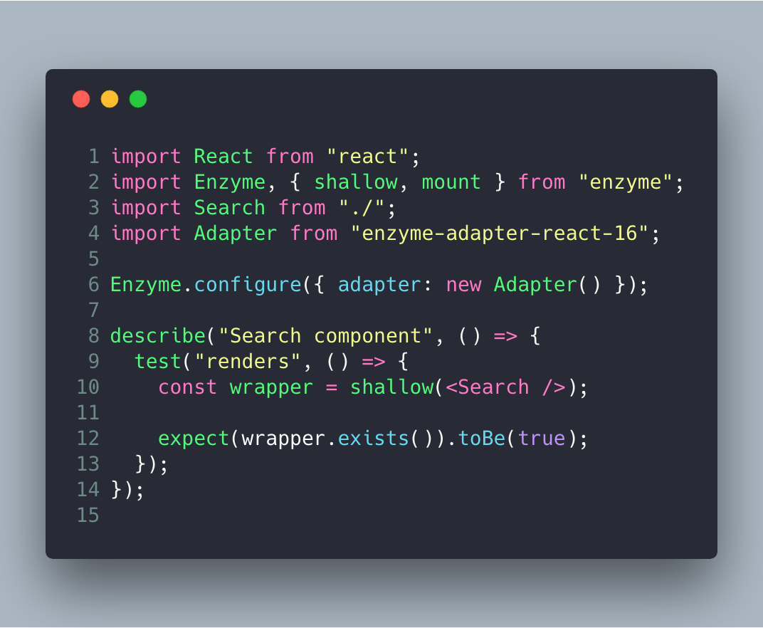 How to Test React Components using Jest and Enzyme