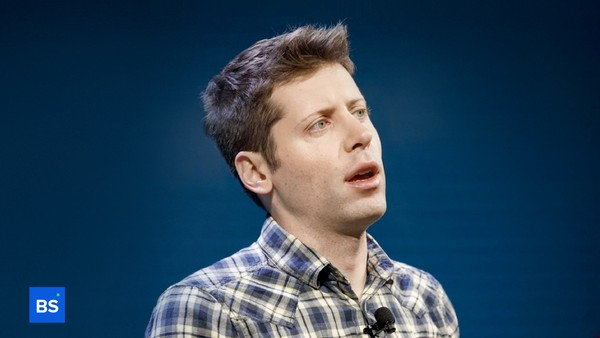 A photo of Sam Altman, CEO of Worldcoin