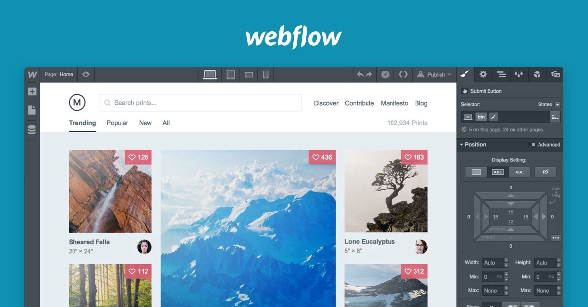 How to make a simple layout on Webflow Part 2 - Prototypr