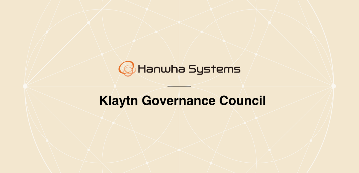 Klaytn Governance Council: Hanwha Systems