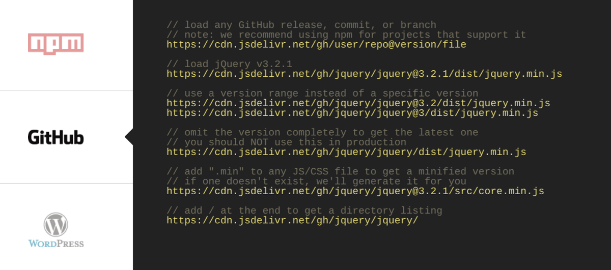 """How to host your repository JS/CSS on Open Source CDN """"jsDelivr"""""""