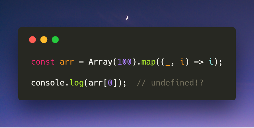Here's Why Mapping a Constructed Array in JavaScript Doesn't Work