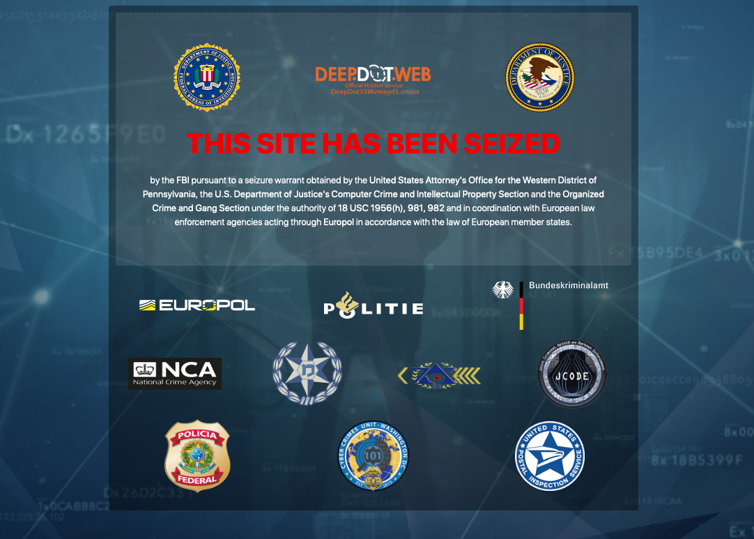 Updated Information About the Investigation into DeepDotWeb