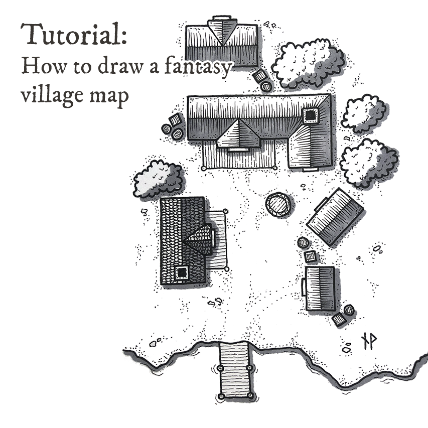 Tutorial: how to draw a fantasy village map - Prototypr on