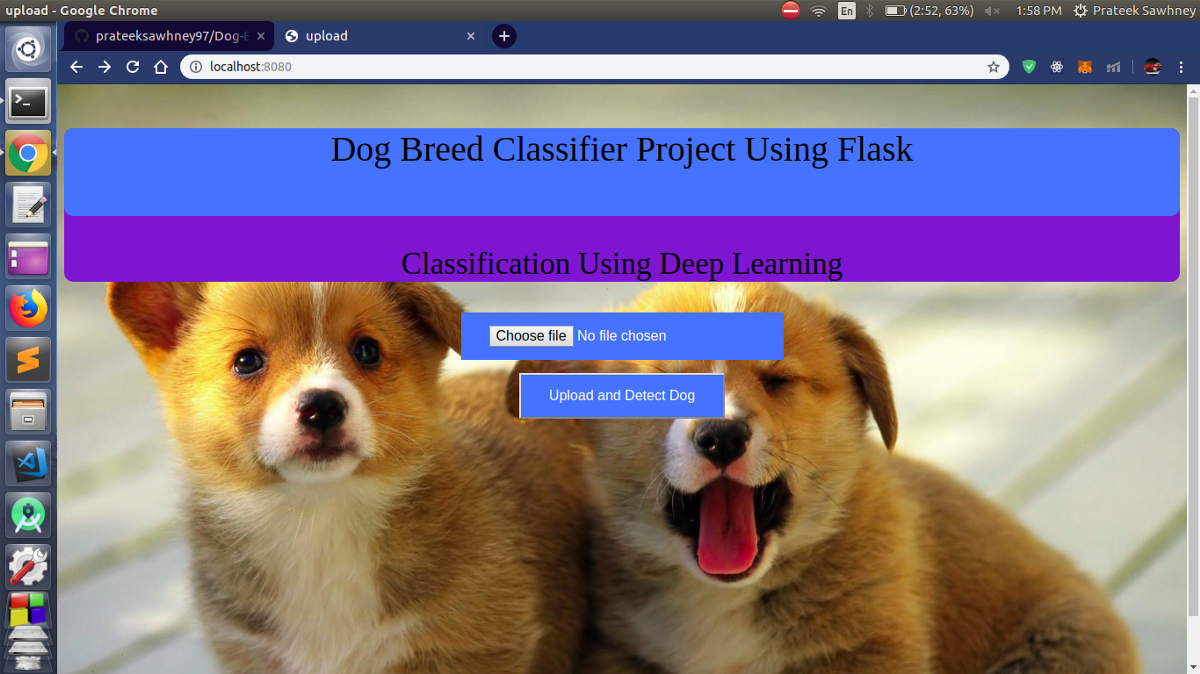 Dog Breed Classification Using Flask