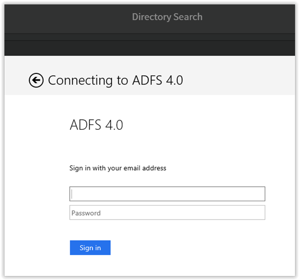 Connecting ADFS to a Cordova application - The new control