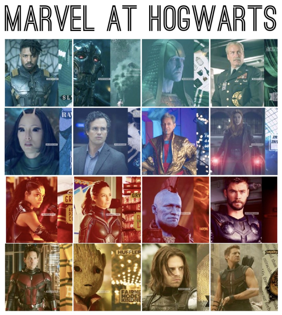 Marvel Cinematic Universe Sorted into Hogwarts Houses