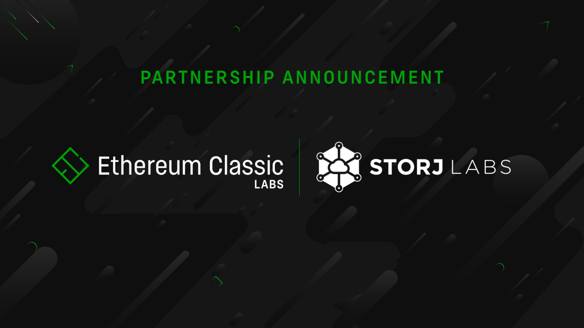 Ethereum Classic Labs Joins Forces with Storj Labs
