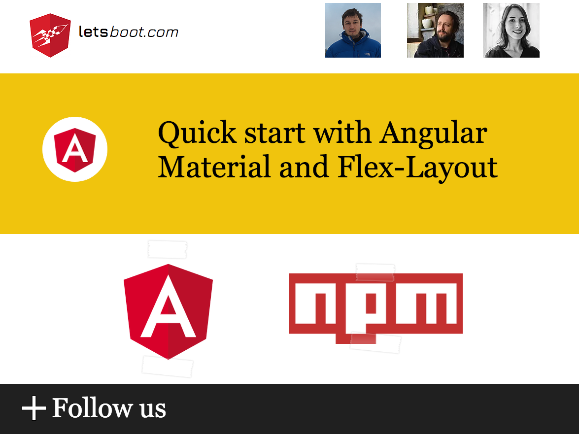 Quick start with Angular Material and Flex-Layout - letsboot - Medium