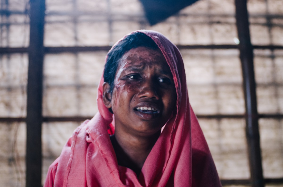 The faces and stories of Rohingya survivors