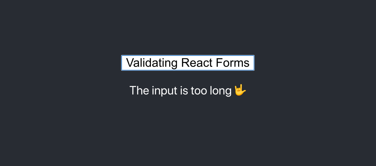 Validating React Forms With React-Hook-Form