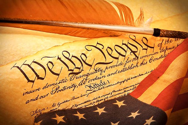 "An image of the Constitution's use of ""We the People."""