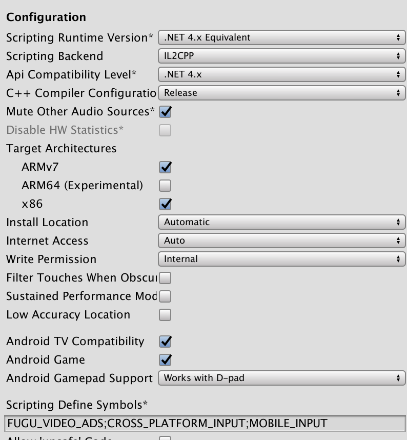 Unity Player Settings: Don't Believe the Stars - Technicat on