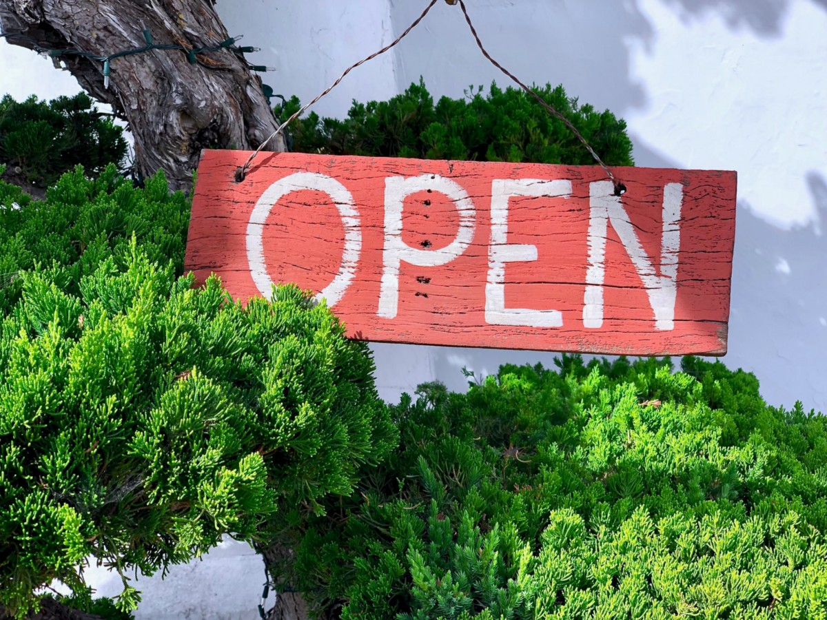 Come on in—we're open!