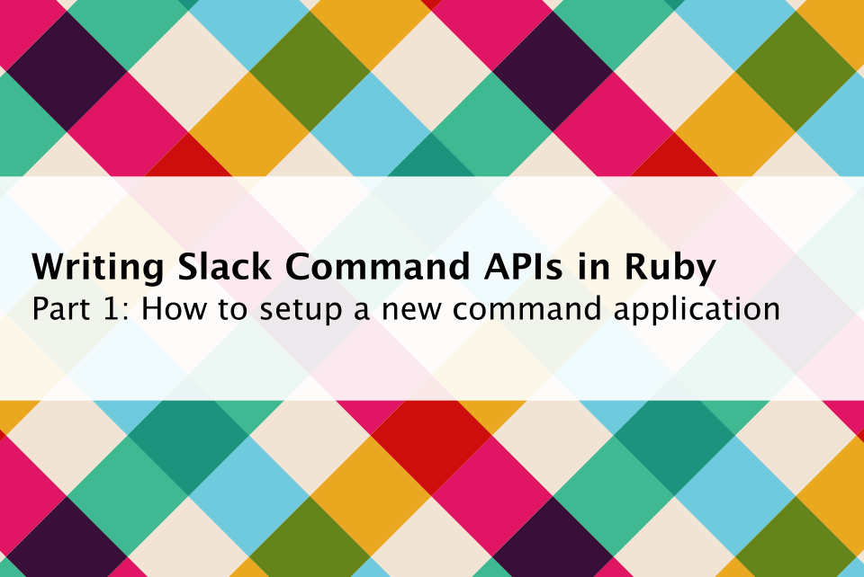 Writing Command APIs in Ruby — Part 1 - Little programming
