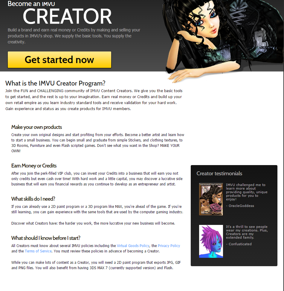 How do IMVU users make money creating content? - Media Ethnography