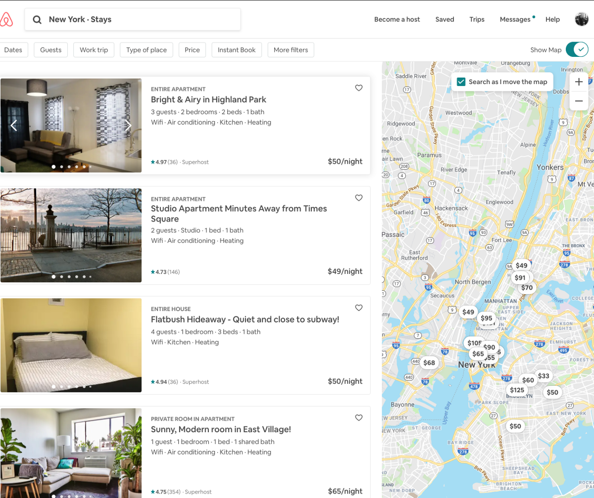 Alternative Ways to Recommend Airbnb Listings Using Natural Language Processing