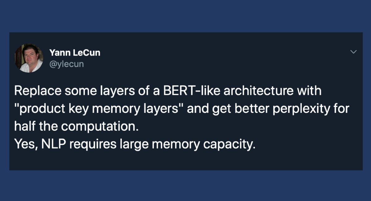 Facebook AI Memory Layer Boosts Network Capacity by a Billion Parameters