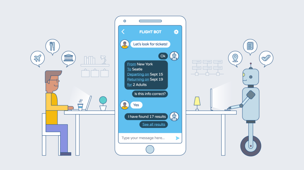Humanizing Chatbots by Designing Conversational UIs