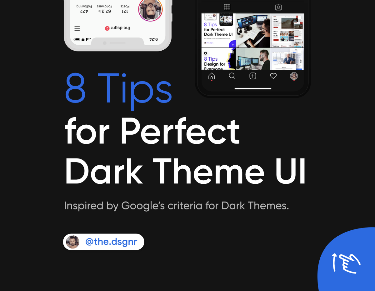 8 Tips for Perfect Dark Theme UI