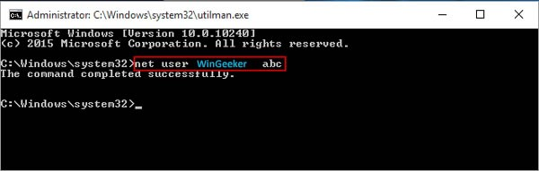 net user command prompt