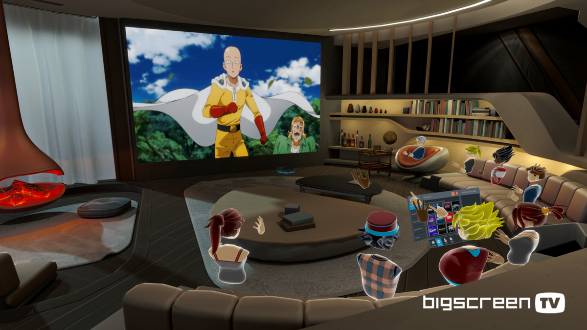 Introducing BIGSCREEN TV: watch movies, news, Twitch, sports, & 50+ channels with friends in VR