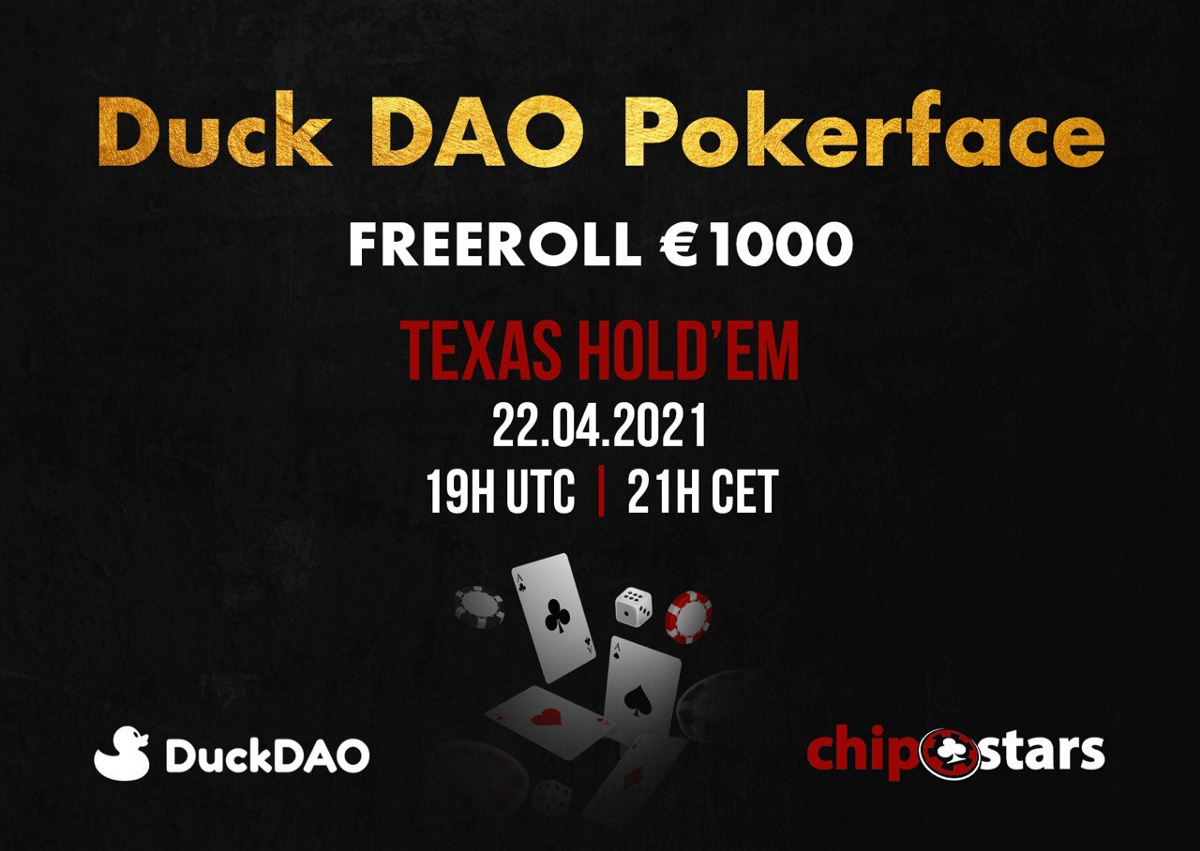 Grab Your Seats for Chipstars' DuckDAO Pokerface Tournament!