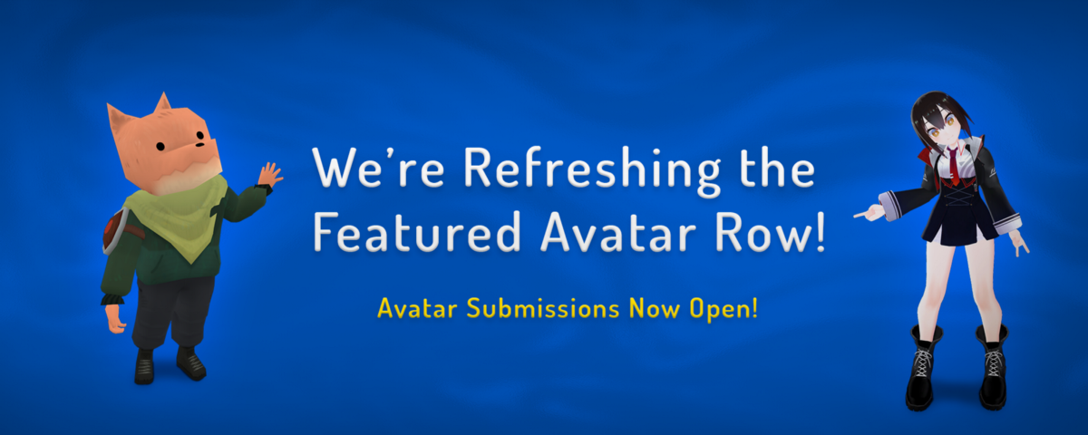 Featured Avatar Row Submissions Open! - VRChat - Medium