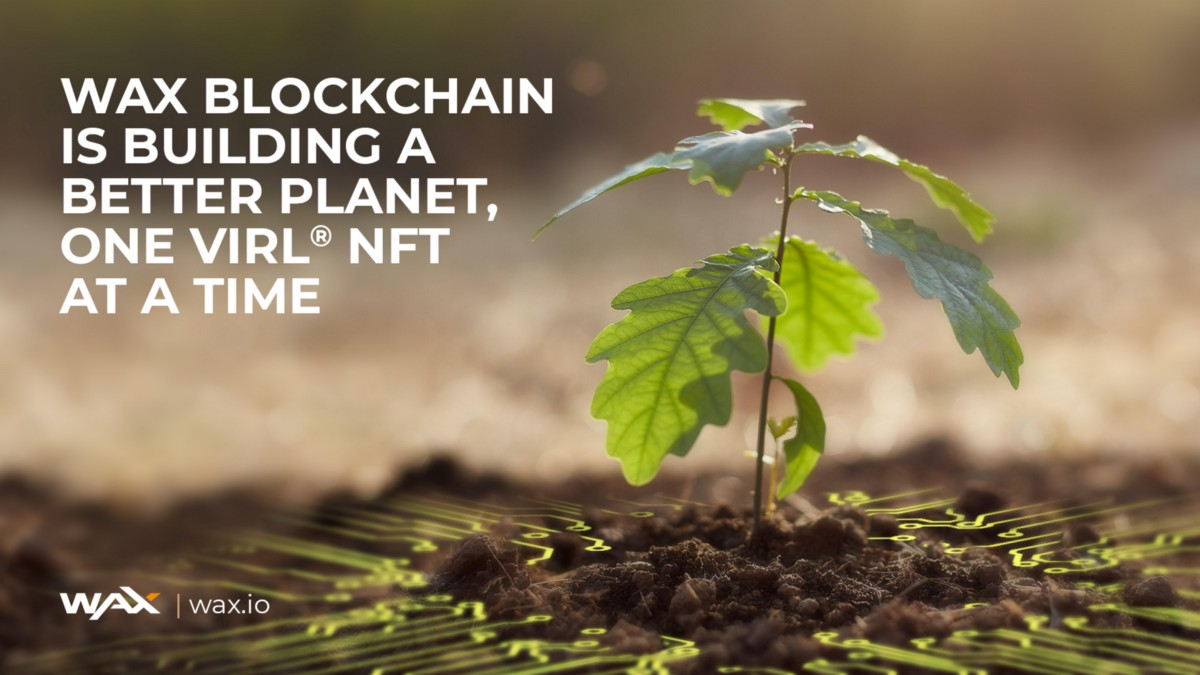 WAX Blockchain is Building a Better Planet, One vIRL® NFT at a Time
