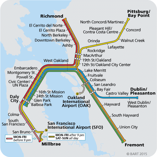 Daly City Bart Map Redesigning BART wayfinding   Nick Doiron   Medium