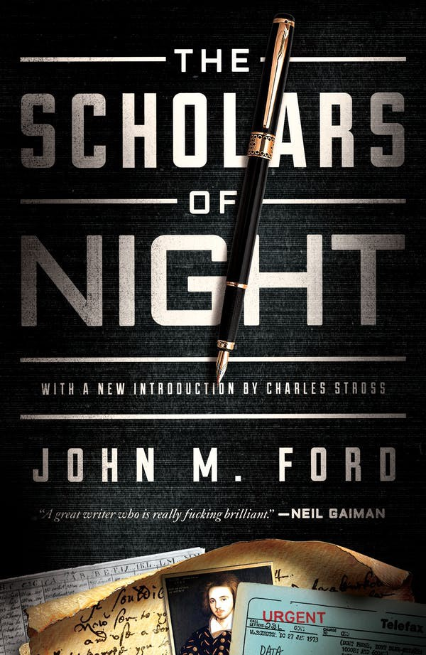 The cover of John M Ford's 'Scholars of Night.'