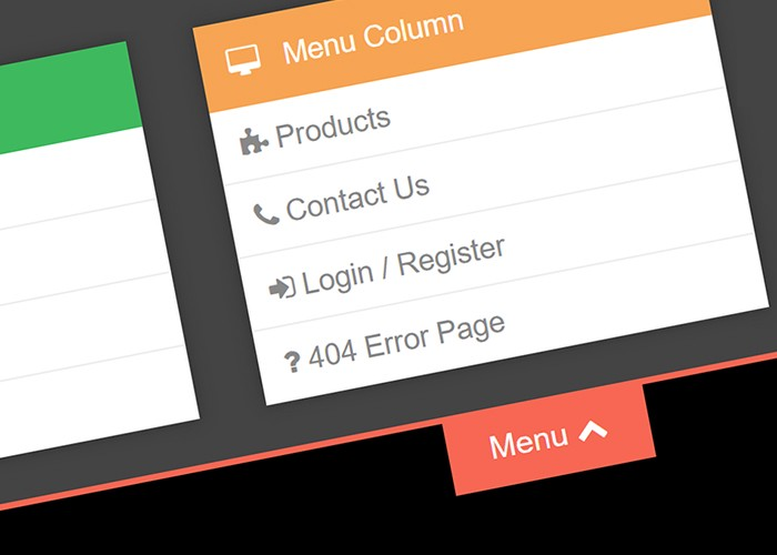 How to Add a Slide Down Menu to your Navigation