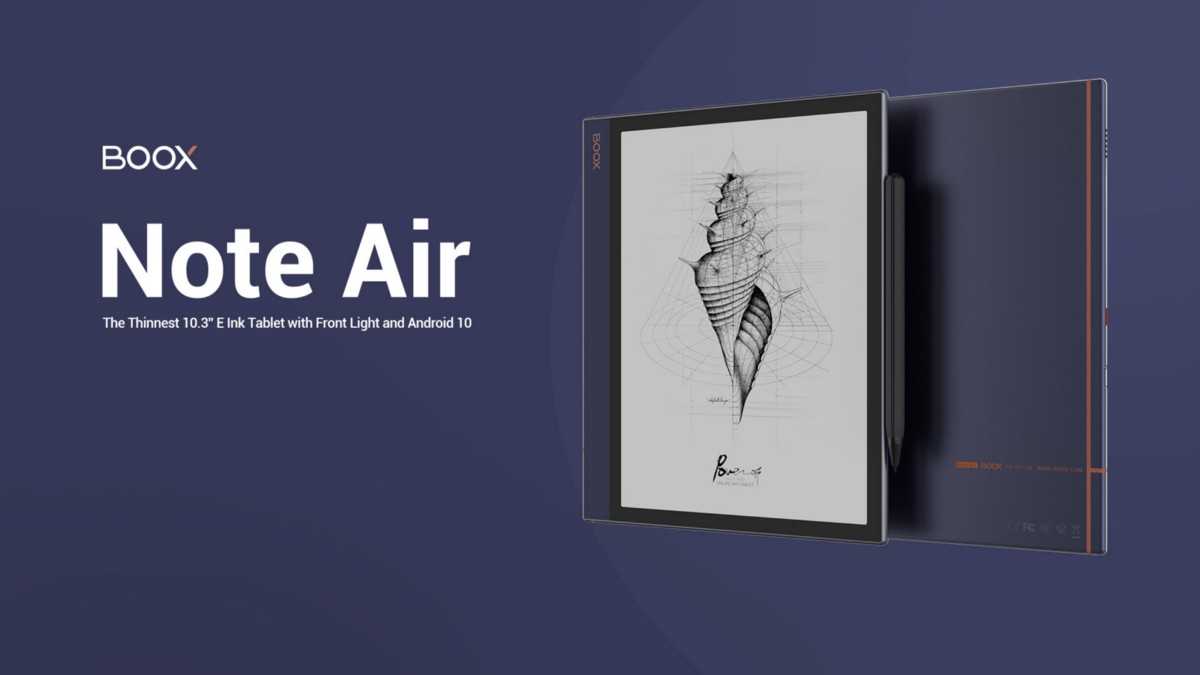 Unveil BOOX Note Air: The Thinnest 10.3'' E Ink Tablet with Front Light | by ONYX BOOX | Sep, 2020 | Medium