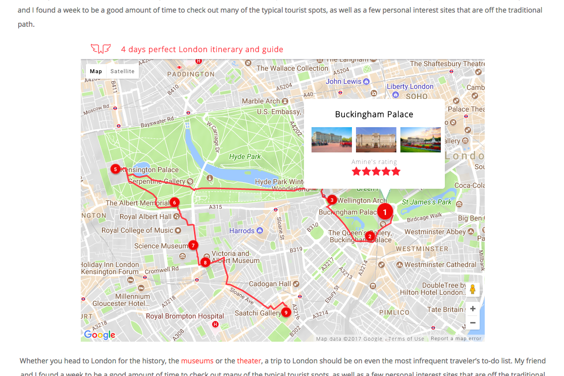 How to Create & Embed a Kick- Interactive Travel Map on your ... Travel Plan Map on