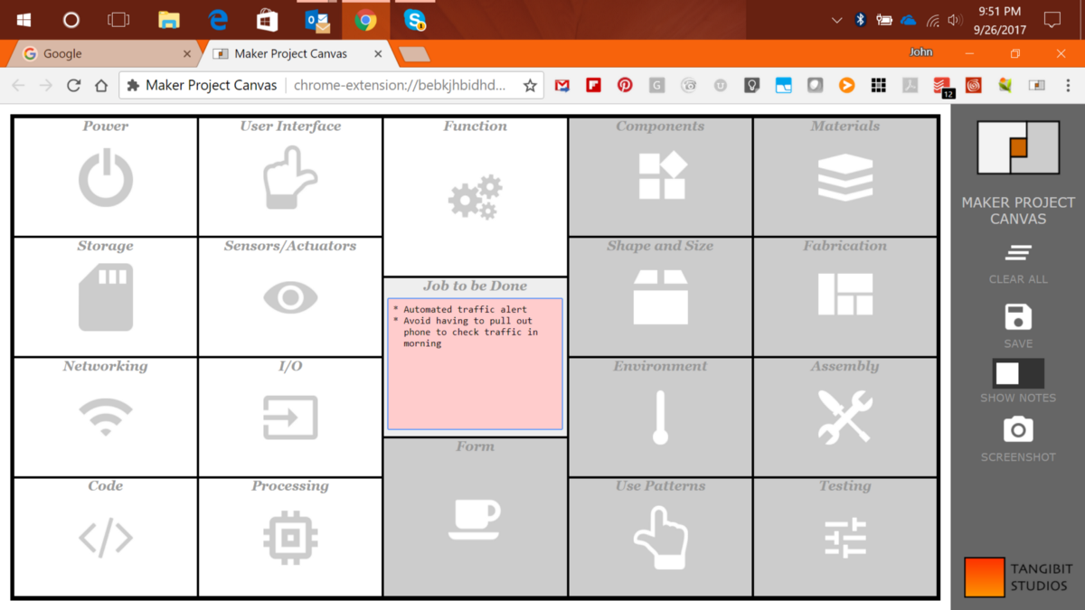 Maker Project Canvas Design in Your Browser